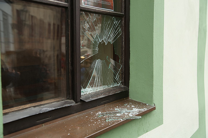 A2B Glass are able to board up broken windows while they are being repaired in Chislehurst.